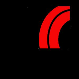 Muster aus Halbkreisen 2 schwarz rot