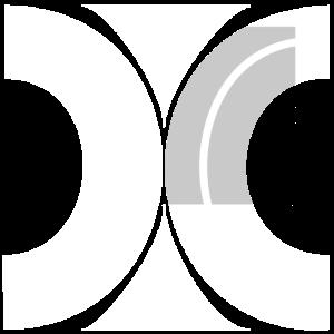 Muster aus Halbkreisen 2 weiss grau
