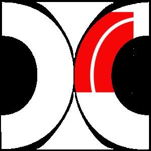 Muster aus Halbkreisen 2 weiss rot