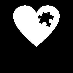 Herz Puzzle - Für Partner, BFF, Mutter Tochter