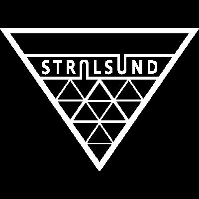 Hansestadt Stralsund Dreieck - Hansestadt Stralsund im Dreiecksstil. Ein schönes Geschenk für Stralsunder und Fans der Stadt. - stralibu,Stralsund,Hansestadt,HST,Geschenk,Dreieck