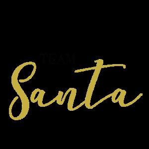 Team Santa Geschenk Idee gold