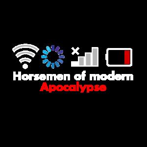 Reiter der modernen Apokalypse Geschenk nerd wlan