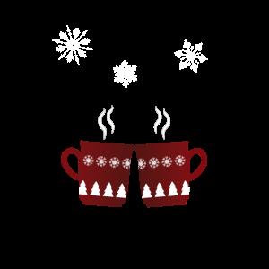 Merry Christmas Glühwein Glühweintasse Weihnachten