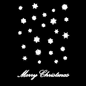 Merry Christmas Schneeflocken Weihnachten Geschenk
