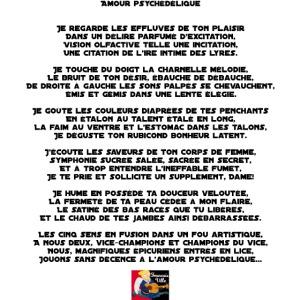 Amour Psychédélique Poème Francois Ville Camiseta Premium Hombre