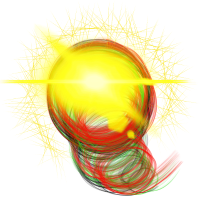 Lichtblitz neon kugelblitz abstrakt kunst