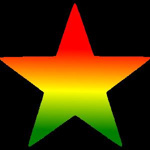 Stern in Rot Gelb Gruen