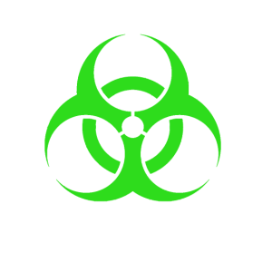 Radioaktiv Biologisches Risiko Gruen