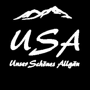 USA unser schoenes Allgaeu Motiv mit Bergen