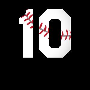 Baseball Sport Trikot Nummer 1 2 3 4 5 6 7 8 9 10