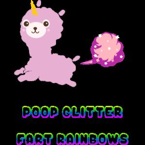 Poop Glitter Fart Rainbows Einhorn
