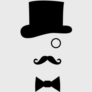 Chapeau Monocle Moustaches Nœud papillon