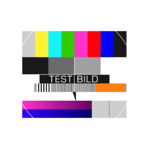 Testbild Fernsehen Bildschirm Sendeschluss Display