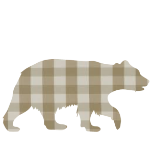 baby bear - brown plaid fur