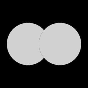 Zwei graue Kreise