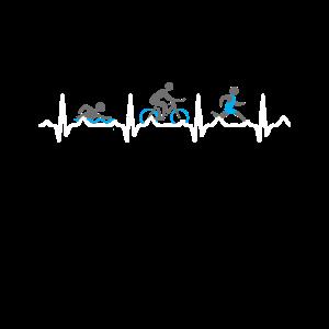 Herzschlag Triathlon Triathlet EKG Lustig