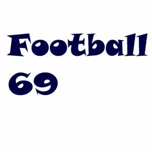 Fußball Football 69 outdoor T-shirt blue