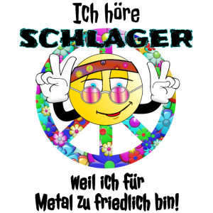 Schlager Peace Party Motto Fete Shirt Geschenkidee