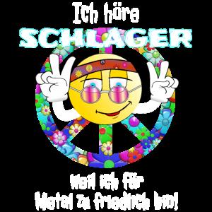 Schlager Shirt Peace Party Motto Fete Urlaub Feier