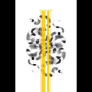 KEEP OFF White Snake Design Grafik