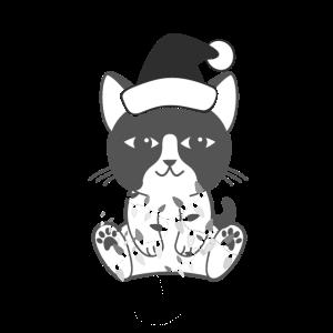 Weihnachtskatze   Santa Cat - Süß   Geschenk