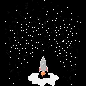 Sternenhimmel Rakete