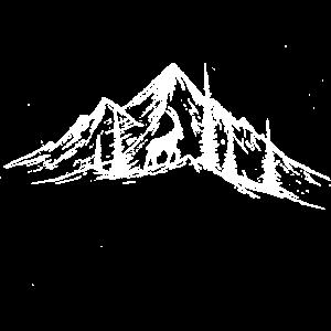 Mountainscene + Capricorn / Bergszene + Steinbock