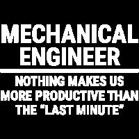 Lustiger Maschinenbauingenieur-Last-Minute-T-Shirt