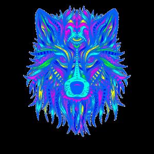 wolf mandala edm farbenfroh techno