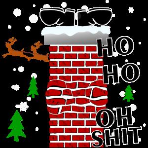Santa steckt fest-HO HO ,OH SHIT.