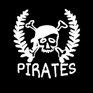 Piraten Totenkopf mit Tuch Bandana als Geschenk