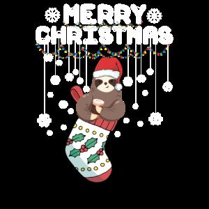 Frohe Weihnachten vom Faultier