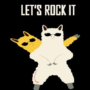 Lama lets rock it