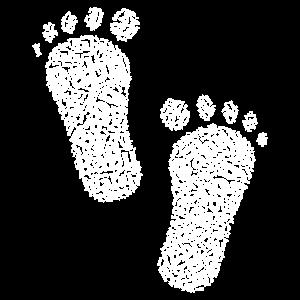 Baby Füsse Geburt Familie Geschenk