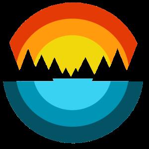 Sonne Berge Meer Fjord I Souvenir Geschenk