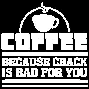 Kaffee, weil Sprung für Sie Hemd schlecht ist