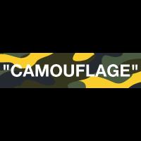 Camouflage Typo Design Print