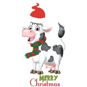 Merry Christmas - cow