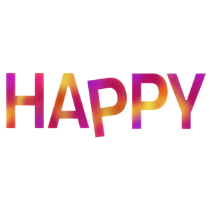 HAPPY Schriftzug bunt Geschenk