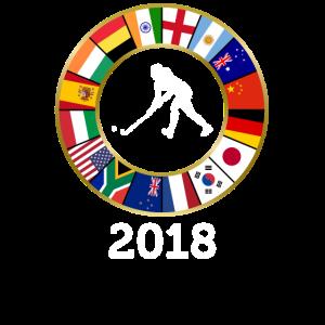Feldhockey-Landesflaggen 2018 mit Frau