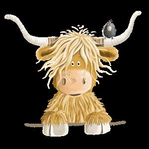 Lustiges Schottisches Hochlandrind Kuh Geschenk