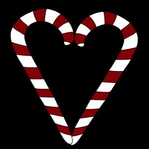 Weihnachten Christmas Zuckerstange Geschenk Herz