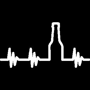 Bier Herzschlag, geschenk alkohol saufen betrunken