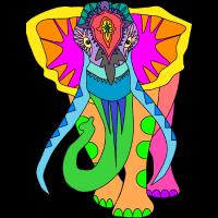 Der bunte Elefant