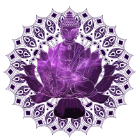 Meditation in einer Lotusblüme