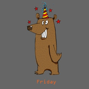 Love Fridays Party Bear for Work Office