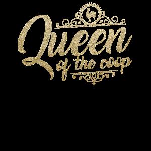 Hinterhof-Hühnerlandwirt Shirt Königin des Coop