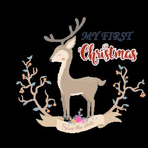 My first Christmas - cute Reindeer