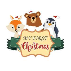 My first Christmas - Gift for new Baby -Animal